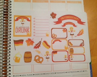 Guilty Pleasures - Oktoberfest stickers -  for your EC, Plum Paper, Filofax, planner