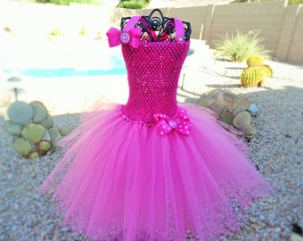 Barbie Inspired Tutu Dress, Halloween Tutu Costume.