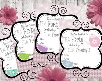 Tea Party Invitations ~ INSTANT DOWNLOAD
