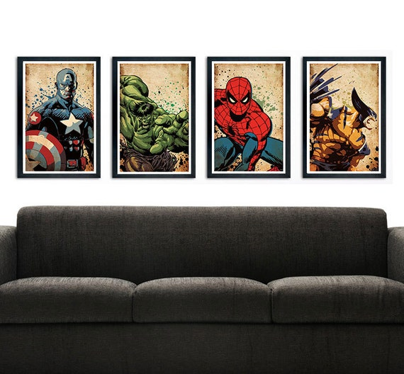 Items similar to avengers poster wall decor 11 x 17 Captain america wall decor