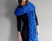 XXL scarf. Super chunky scarf. 23 microns merino wool