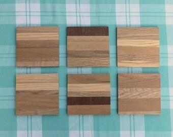 Designer Coasters / Mug Mats - wooden