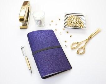 Midori Travelers Notebook, Fauxdori Cover, Midori Cover, Planner Cover, 2017 Planner, Journal Cover, Bullet Journal cover, Indigo Reversible