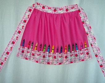 Little Girls Crayon apron Hello Kitty Barbie Snoopy Dora the Explorer Scooby Doo