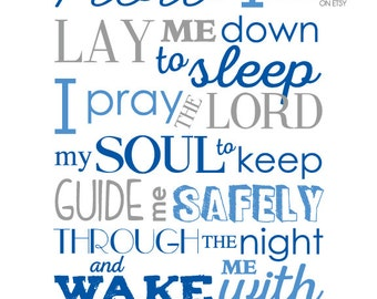 Bedtime Prayer - Childs Room Decor