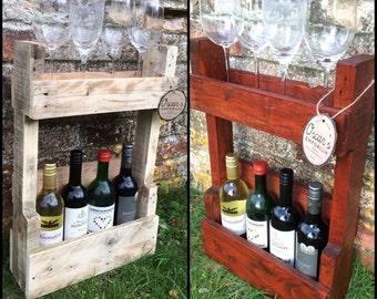 Pallet Wood Rustic Handmade Wine Rack