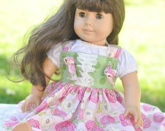 "Doll Dress, Kadence Knot Dress, American Girl, Doll Ruffle Dress, Matching Doll Dress, 18"" Doll Clothing, Doll Clothes, 18"" Doll Dress"
