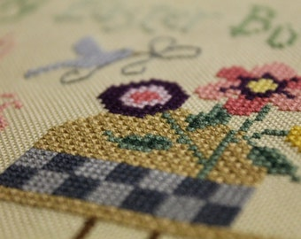 My Easter Bonnet Finished Cross Stitch