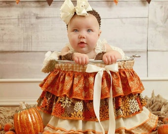 Ruffle Bucket Skirt Photography Prop Autumn
