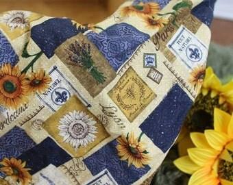 Sunflower Shaggy Blanket Basket Filler Prop