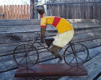 Bicyclist Sculpture