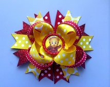Daniel Tiger Inspired Boutique Hair Bow- Daniel Tiger Party Bow