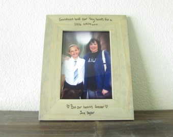 Laser Engraved Frame with your Child's Handwriting, Grandparent Gift, 5x7 Personalized Frame, Gift from Child,
