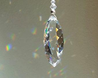 Hanging crystal,  crystal suncatcher,  crystal housewarming gift, window decoration,  swarovski crystal suncatcher, crystal pendulum