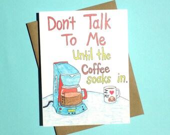 Coffee Lover Card, Coffee Greeting Card, Cafe Card, Coffee Shop Gift