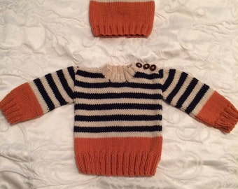 Baby Boy Hat and sweater gift set