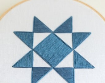 Triangle Pattern Hand Embroidery - 6 inch hoop // Geometric Wall Decor