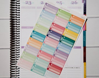 27 Today Half Boxes   Planner Stickers designed for use with the Erin Condren Life Planner   1063