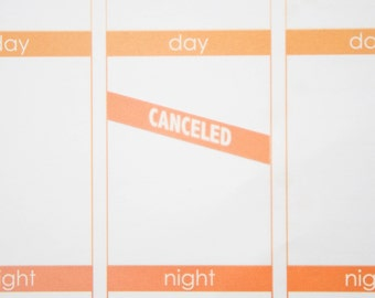 Canceled Stickers  | Planner Stickers designed for use with the Erin Condren Life Planner | 0913