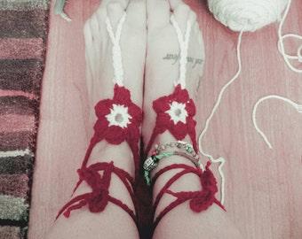 Barefoot flower sandals