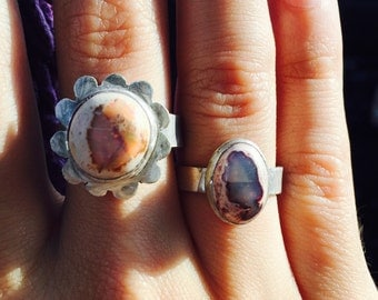 Mexican Fire Opal Sterling Silver Rings