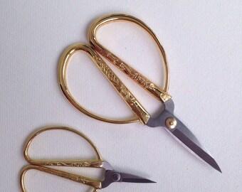 Embroider Scissors Gold Vintage Style