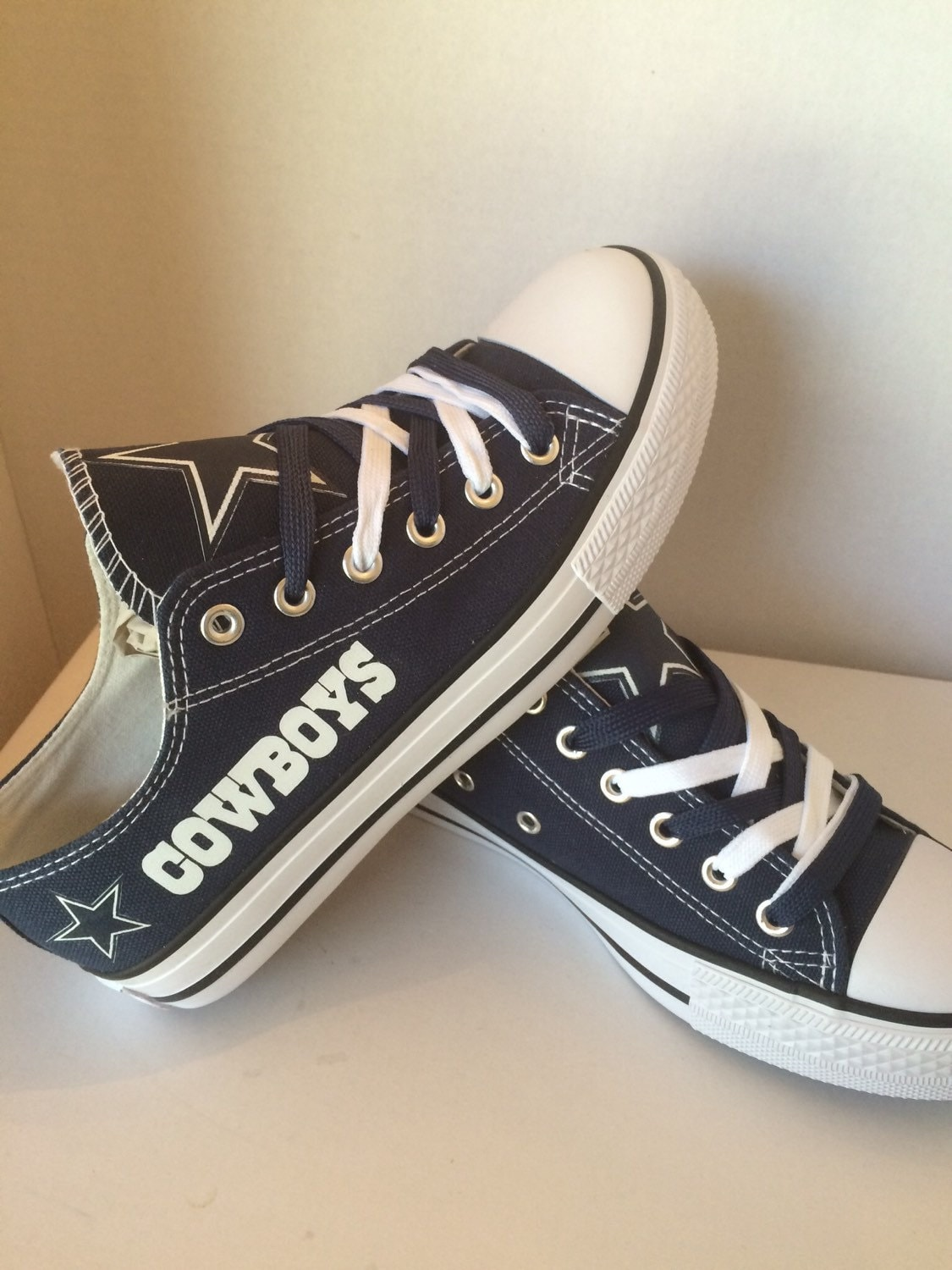 dallas cowboys mens and womens shoes by sportzshoeking on etsy