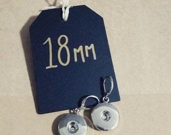 18mm Dangle Earring - Interchangeable Snap Jewellery