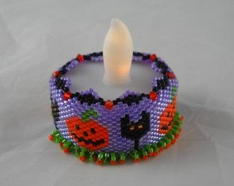 Tea Lights, Halloween Pumpkins and Cats