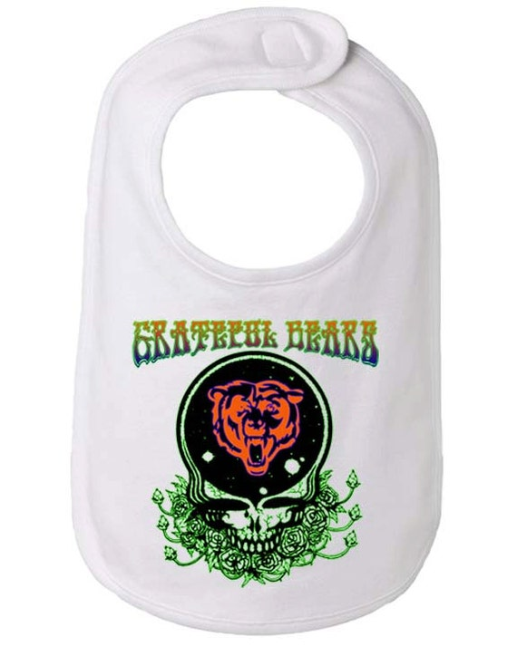 Chicago Bears Baby Bib Grateful Dead Bears Bib by BBIApparel