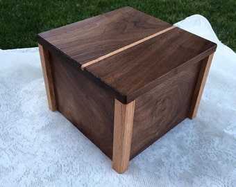 Oak and Walnut gift box/cigar box