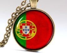 Portugal Jewelry Flag Pendant Lisbon Necklace Portugal Flag Necklaces pendants LG405