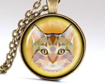 Cat Pendant Garfield Necklace Pet Jewelry Cat Necklace Cat Jewelry Garfield Pendant Garfield Jewelry Pet Necklace Pet Pendant LG019