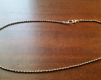 Silver necklace Hematite &