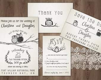 Owl Always Love You Wedding Invitation Pack