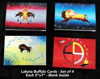 Lakota Designed Greeting Cards - Sets of 4