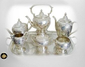 Dunkirk sterling silver tea coffee set with sterling tray