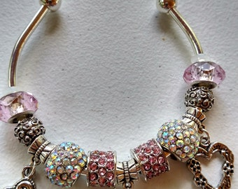 European style cuff bracelet with beads