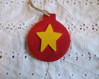 Christmas Star Wood Ornament, Christmas Gift, Christmas Decor, Gifts for her, Gifts for women, Wall Hanging, Wall decor