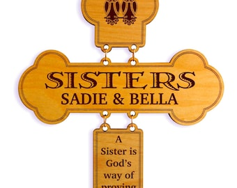 Valentines Day Gift to my Sister, Sisters  Cross Gift,Sister Birthday Gift ,Sister to Sister Gift, Brother to Sister Gift,Gift to my Sister.