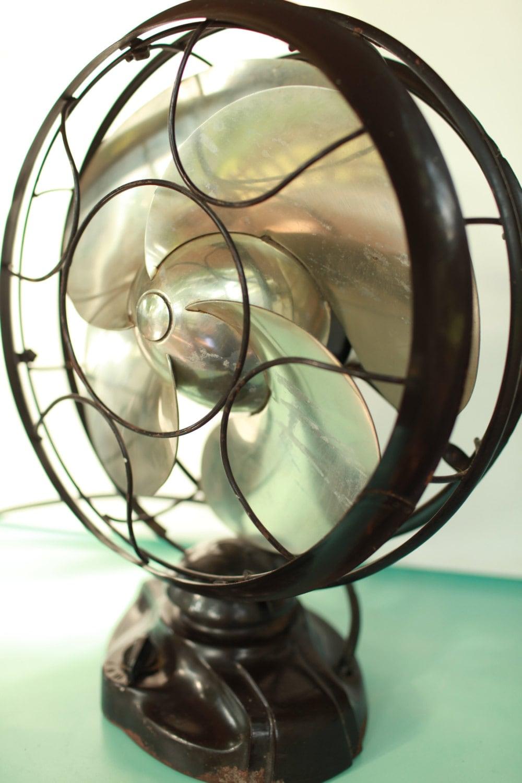 Reduced Emerson Silver Swan Fan Art Deco Design Will Blow