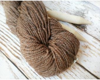 Wool Yarn - Nylon Yarn - Brown Wool Yarn - Wool Blend Yarn - Brown Yarn - Yarn for Sox - Worsted Weight Yarn - Knitting Supplies