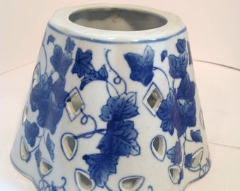 Vintage Ceramic Blue and White Shade/Reduced