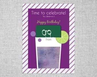 Printable Gift Card Holder | Celebrate! | 4.5x6 | PDF instant download