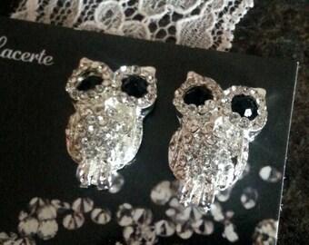 owls silver & Black