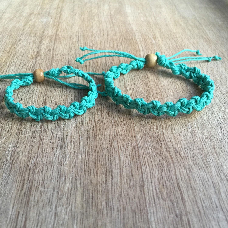 Mommy and me bracelets Teal Mom and Daughter Bracelets Kids