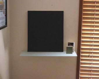 Frameless Timber MDF Wood Backing BLACKBOARD / CHALKBOARD Wall Mounted Hanging - 390x445