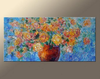 Floral Painting Contemporary Painting Canvas Painting Contemporary Wall Art Large Abstract Art Abstract Art Living Room Wall Decor Original