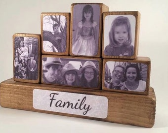 Photo Stacking Blocks / Photo Blocks - Family / Photo Gift Idea / Photo Block / Stackable Blocks