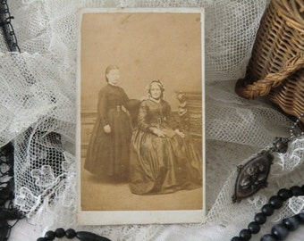 Antique Cabinet photo sepia Princesses Helena and Louisa UK Victorian